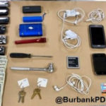 Two people were arrested in Burbank following a string of car thefts in the city. Photo from the Burbank Police Department.