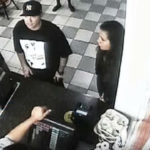 In this video released by the Los Angeles Police Department Derek Bryan Dominguez, 28, is seen in a security video. He has been identified as a suspect in the killing of Jorge Reyes Jr., 23, who was gunned down about 6 p.m. on New Year's Eve outside a KFC restaurant on Balboa Boulevard in Northridge. Photo/video from the Los Angeles Police Department.