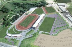 Artist's rendering of new Hilmer Lodge Stadium at Mt. SAC.