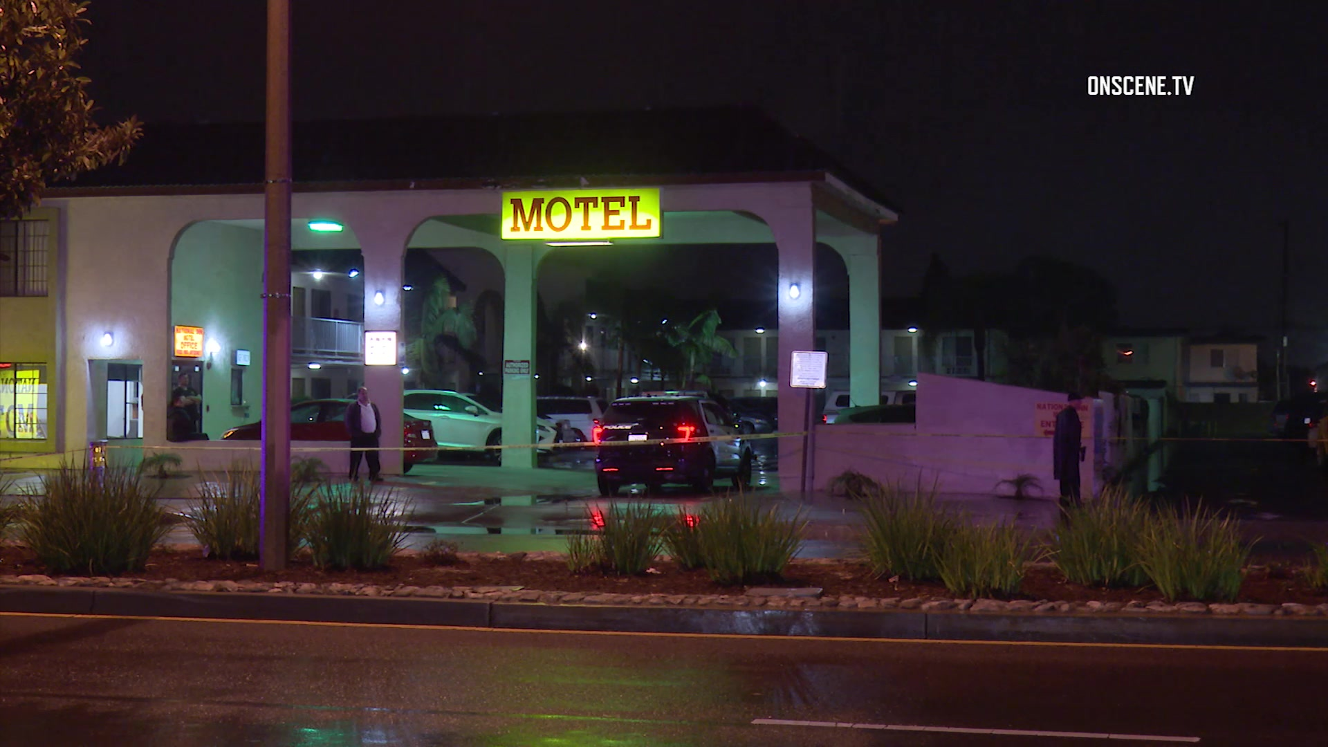 Driver shot killed by garden grove police during motel parking lot patrol officer injured Garden grove breaking news now