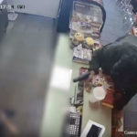 Police Thursday released surveillance video of a woman suspected in a series of armed robberies of stores in South Los Angeles, the latest on Tuesday. Photo/video from the Los Angeles Police Department.