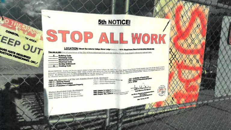 "City of Walnut ""stop-work"" orders at Hilmer Lodge Stadium project were posted Feb. 22 and taken down shortly after."