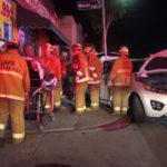 Paramedics at crash scene