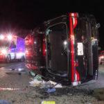 Overturned SUV
