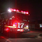 Emergency vehicles outside Whittier home