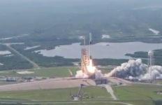 Falcon 9 Block 5 blasts off