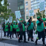 Striking AFSCME Local 3299 workers