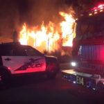 Burning home in Burbank