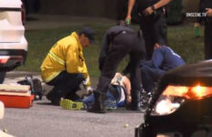 Paramedics treat man shot by officers