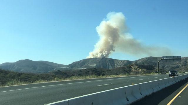 Smoke from Santiago Fire