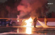 Norwalk car fire