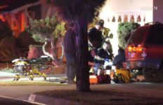 Paramedics with suspect