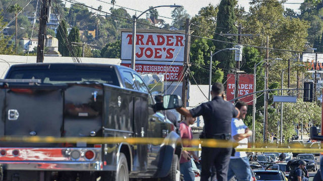 Police outside Trader Joe's