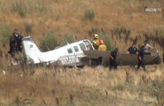 Wrecked Beechcraft in Slymar