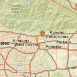 Map shows location of earthquake and aftershock