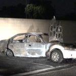 Burned car in Westminster