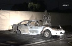Burned car in Westminster