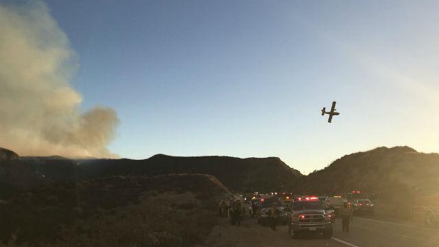 Firefighters battle Charlie Fire