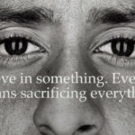 Closeup of Colin Kaepernic in Nike adk