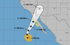 NOAA map shows the likely track of Hurrican Rosa