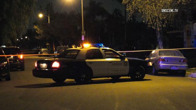 Sheriff's cruiser at crime scene