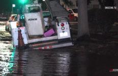 Flooded street in Van Nuys