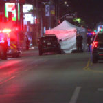 Crime scene on Sunset Boulevard