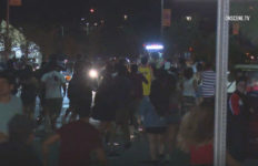 Surging crowd at Shocktoberfest