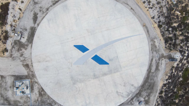 SpaceX landing site