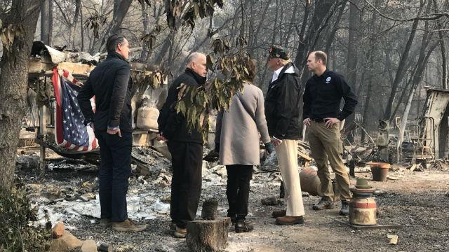 President Trump tours Camp Fire area