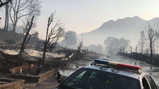 Woosey Fire devastation