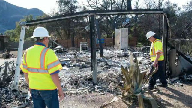 Inspectors assess Woolsey Fire damage