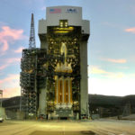 Delta IV Heavy rocket on the launch pad