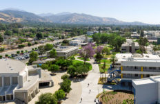 Aerial view of Citrus College in Glendora