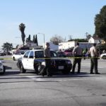Deputies at the crime scene in Compton