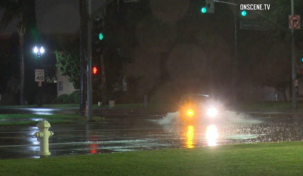 Rain overnight in Orange County