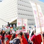 Los Angeles teachers rally downtown