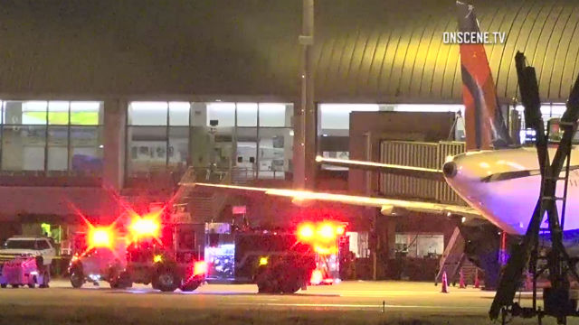 Worker killed when airplane tire explodes at SoCal airport