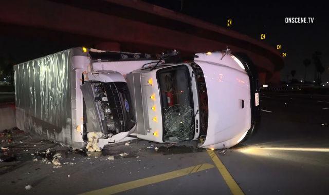 Fatal Big Rig Crash Closes Santa Ana Freeway in Anaheim