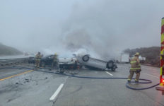 Accident on I-5 near Gorman