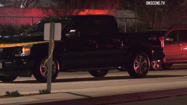 Pickup truck involved in accident