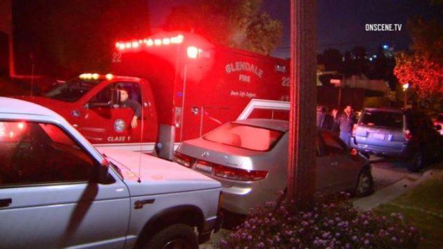 Ambulance outside Glendale home