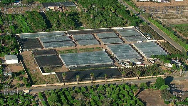 Aerial photo of illegal marijuana grow