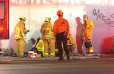 First responders at scene of fatal accident