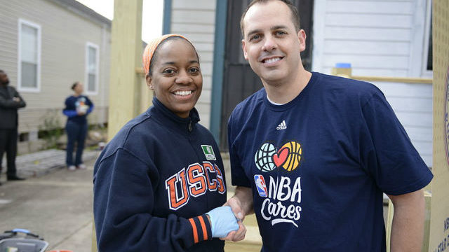 Frank Vogel at a charity event