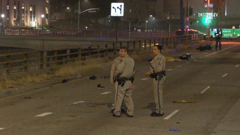 Motorcyclist Chased by CHP Officers Kills Pedestrian in