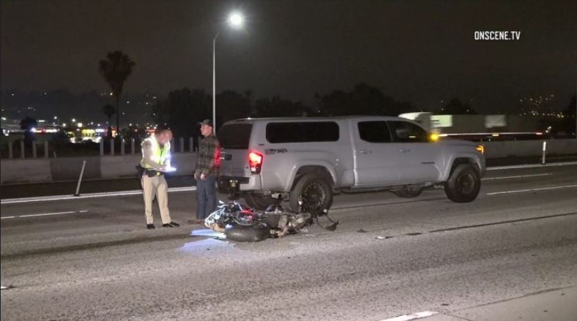 Motorcycle Rider Killed in Collision with Pickup Truck in