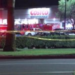 Emergency vehicles outside CostCo in Corona