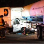 Accident scene in La Mirada