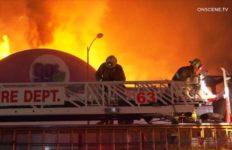 Firefighters battle blaze in Culver City